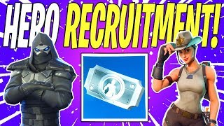 BEST Heroes to Get With The Hero Recruitment Vouchers! | Fortnite Save The World (Fortnite School)