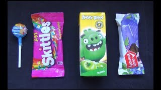 Learn Colors with Candy Lollipops Chupa Chups Skittles Angry Birds Red Price