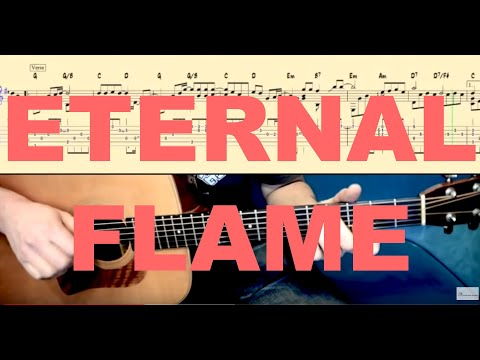 ETERNAL FLAME (The Bangles) Tutorial for Guitar (TABs and Score ...