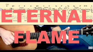 ETERNAL FLAME (The Bangles) Tutorial for Guitar (TABs and Score)
