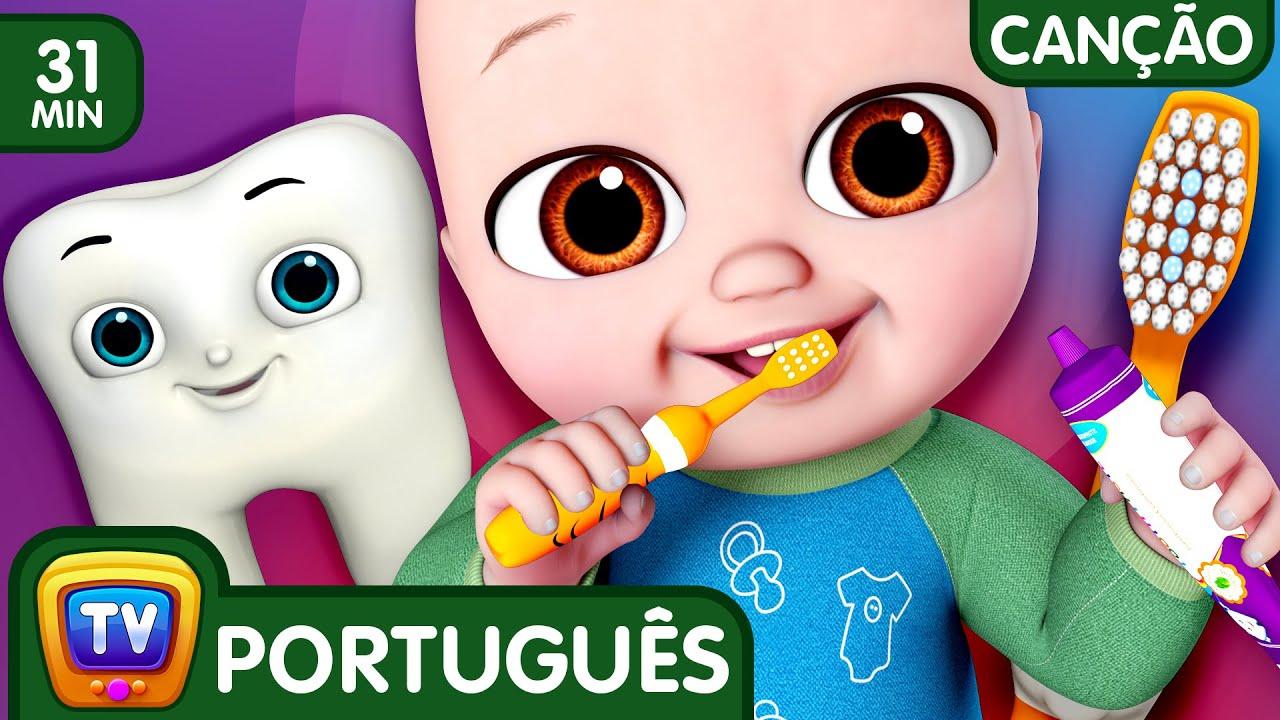 Não Não Escove Meus Dentes (No No Brush My Teeth) | Canções para Crianças | ChuChu TV Coleção