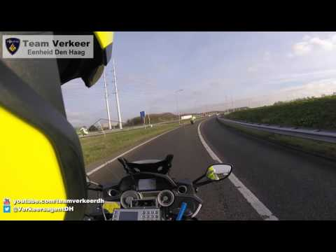 Langzaam glijdend transport / Police escort Den Hoorn naar Erasmus MC 30-11-2016