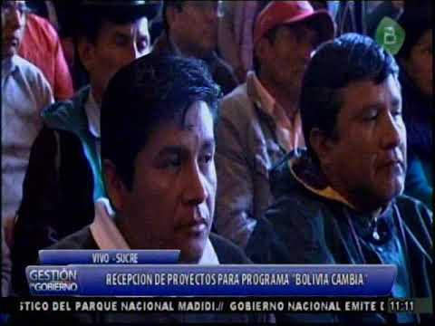 """Chuquisaca, Evo Morales recibe proyectos para el Programa """"Evo Cumple, Bolivia Cambia"""""""