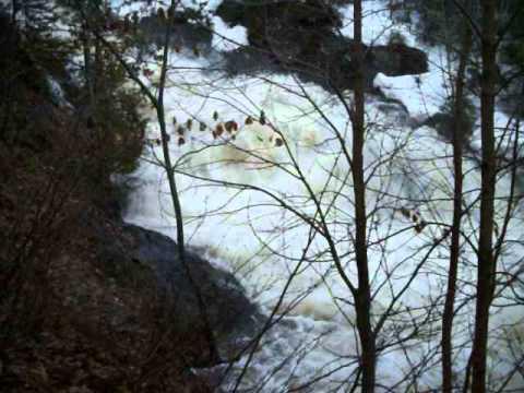 Hike out of Queen Annie Falls - Upper Peninsula of Michigan @Copper City, MI 4/28/13