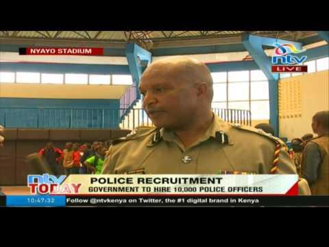 Police recruitment kicks off at Nyayo stadium