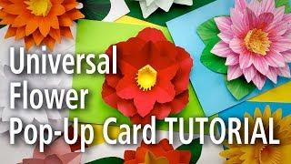 Universal Flower Pop-Up Card Tutorial
