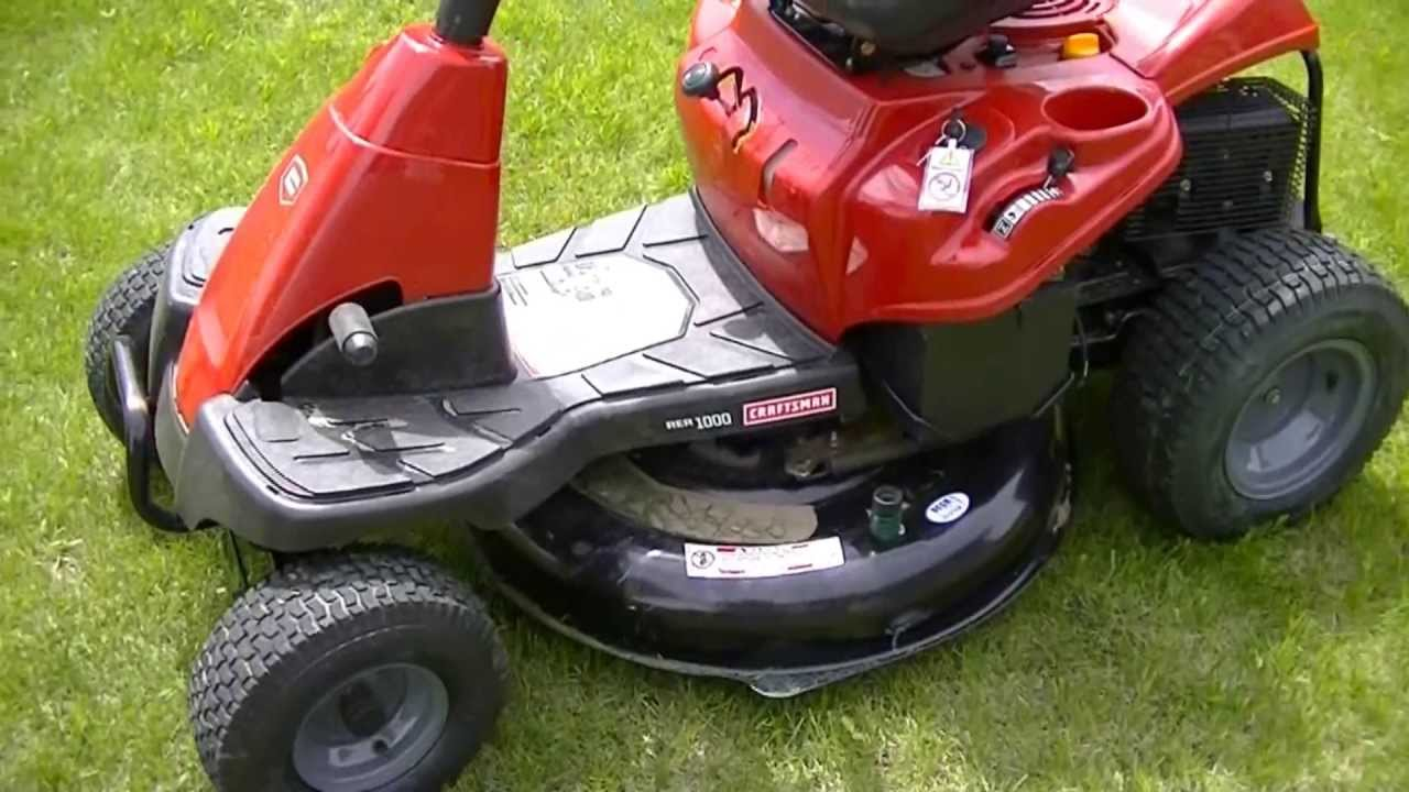 Sears Craftsman Troy Bilt 30 Rear Engine Riding Mower Review Youtube