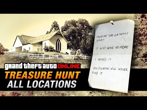 GTA Online Treasure Hunt - All 20 Locations [Double-Action Revolver]