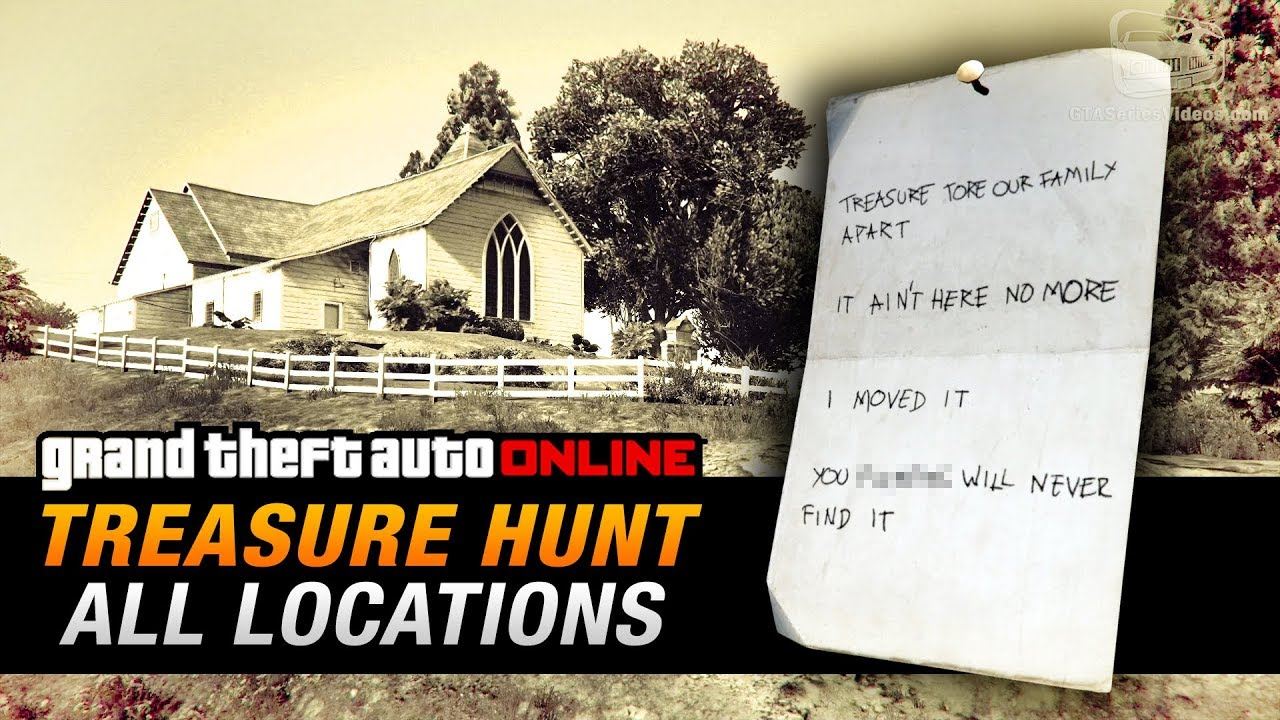 Gta online treasure hunt all 20 locations double action for Find a house online