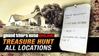 GTA Online Treasure Hunt - All 20 Locations [Double-Action Revolver]
