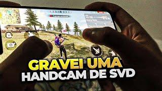MOSTRANDO AS MÃOS DANDO PUXADAO DE SVD - IPHONE 11 PRO MAX - FREE FIRE (HUD 2 DEDOS)