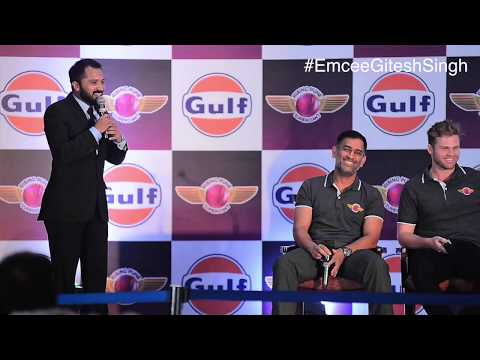 Rs 1000 crore Question to MS DHONI by Emcee Gitesh Singh