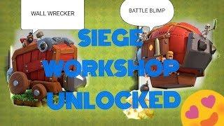 SIEGE WORKSHOP IS FINALLY HERE IN CLASH OF CLANS.