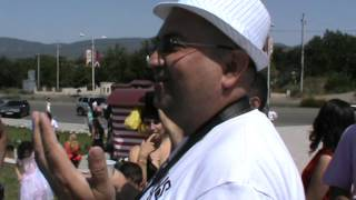 Сергей Хамзин произносит тост на карабахской свадьбе