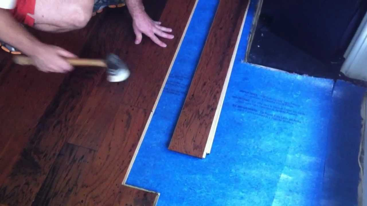 installing locking hardwood flooring