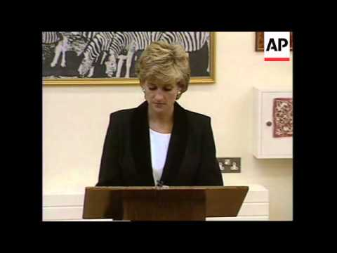 UK: PRINCESS DIANA TO GIVE TV INTERVIEW ON BREAK UP OF HER MARRIAGE