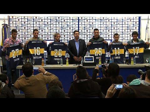 Boca Juniors presentó a los seis refuerzos