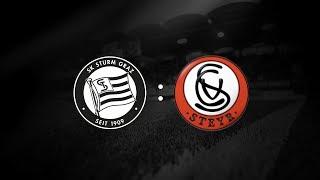 Spielaufzeichnung: Sturm Graz 2:2 Vorwärts Steyr (1:1)
