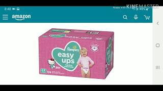 Pampers Easy Ups Pull-(Diaper Review) Best price on Amazon! Training Underwear for Girls.
