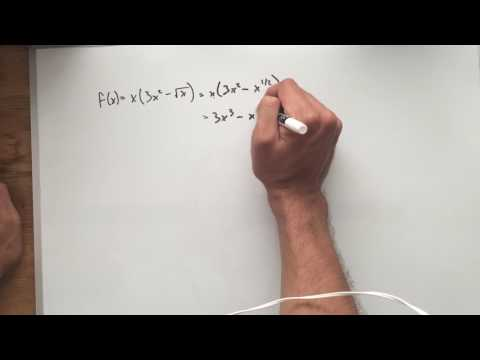 Using Distributive Property to Use Power Rule to Find a Derivative