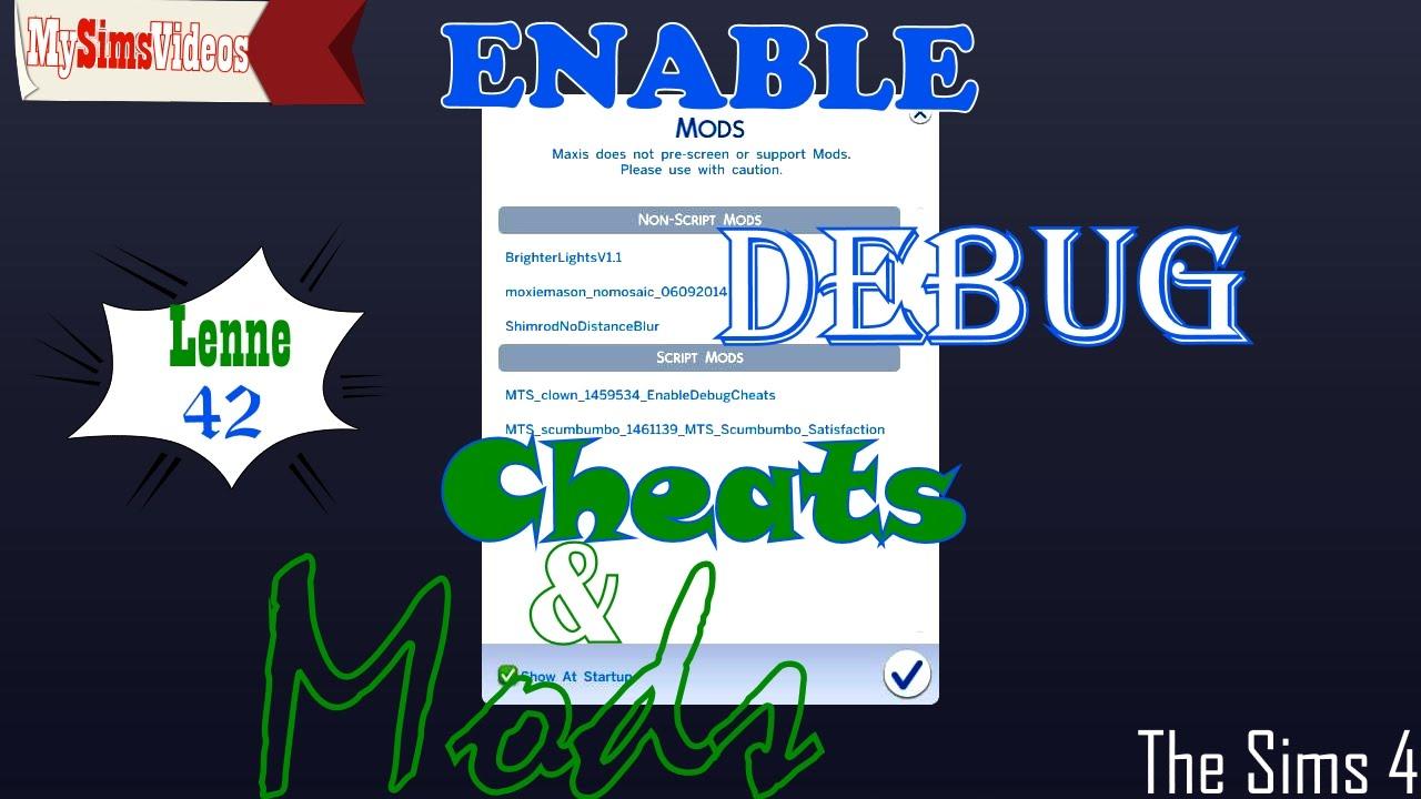 The Sims 4: Enable Debug Cheats & Mods