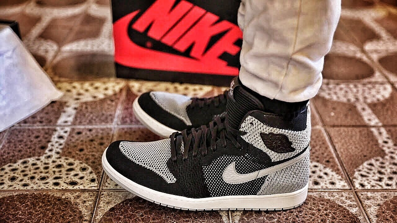 83f8d90b9f Nike Air Jordan 1 Retro High Flyknit Shadow Nike Outlet Find On-Foot Review