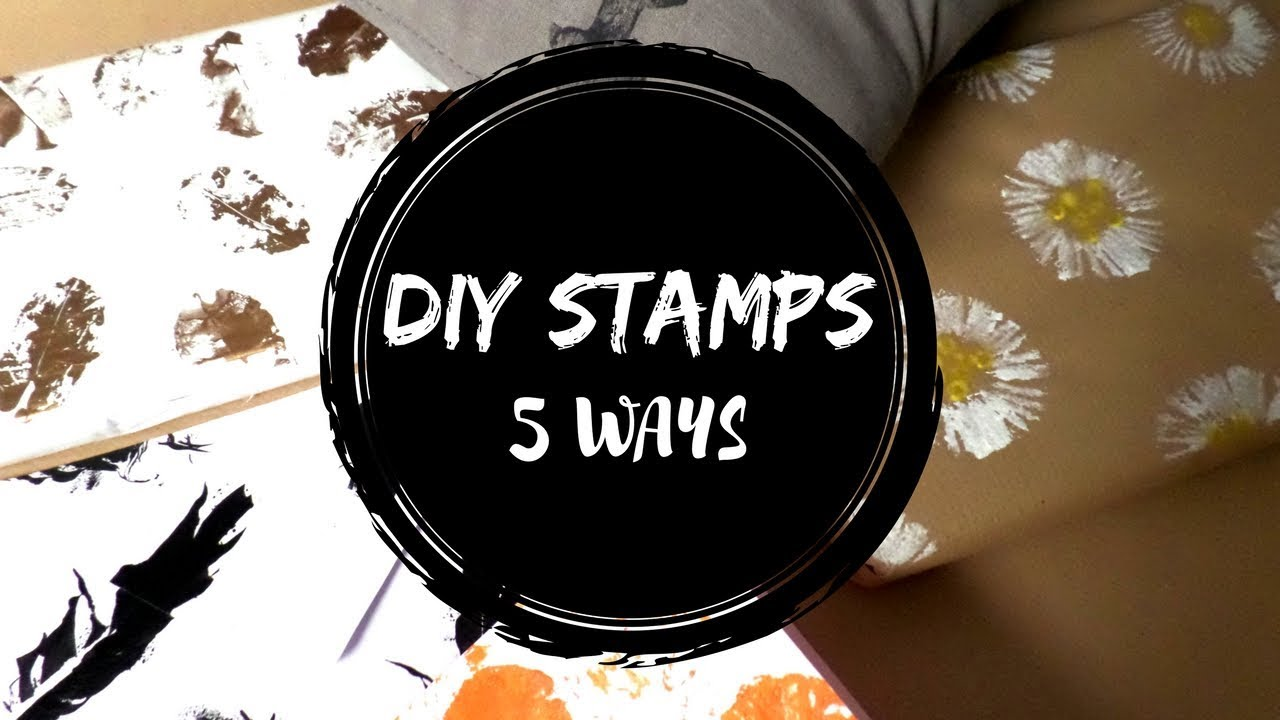 DIY 5 Easy Stamp Making Ideas | How to Make Stamps At Home ...