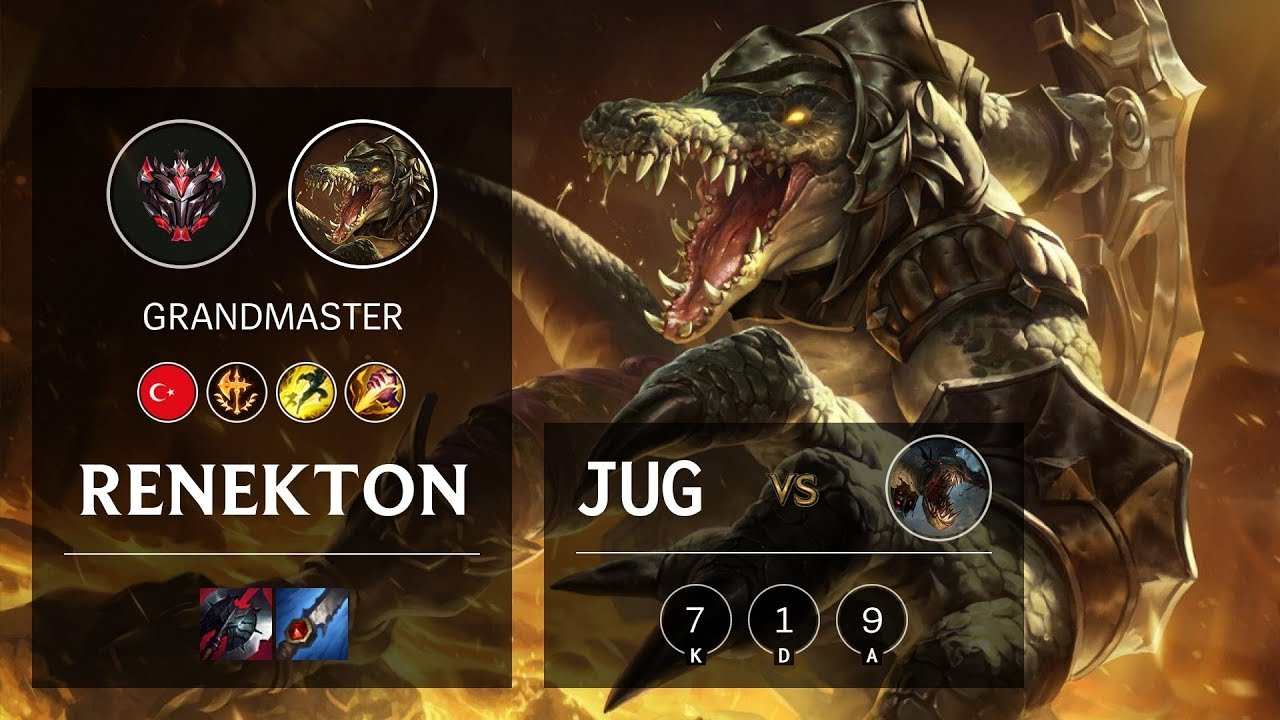 Renekton Jungle Vs Fiddlesticks Tr Grandmaster Patch 10 7 Youtube