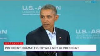 Donald Trump responds to Barack Hussein Obama remark that Trump wil...
