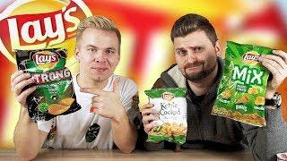 Экстра острые чипсы из Европы / Перец и Васаби