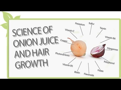 Science of ONION JUICE and natural hair growth