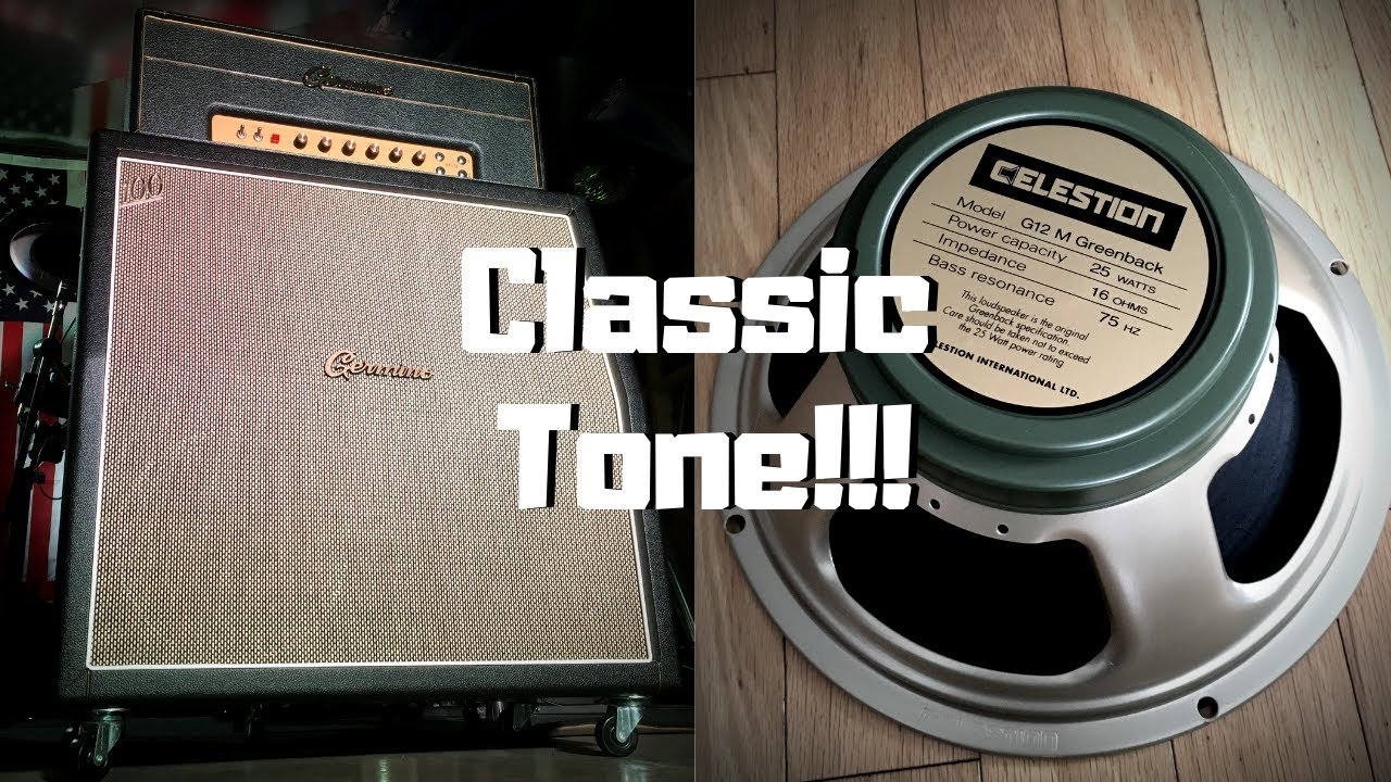 Germino 4x12 Plexi with Celestion Greenback (UNBOXING + DEMO)