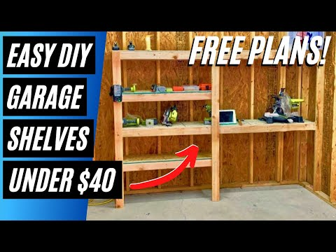 Build Easy DIY Garage Storage Shelves with Limited Tools – FREE Plans