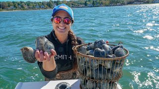 GIANT CLAMS Catch and COOK! Coastal Foraging, Niantic River Connecticut!