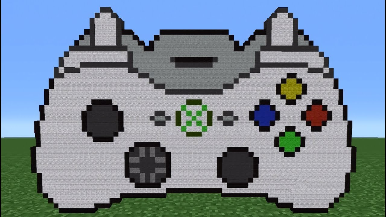 pixel art xbox 360 controller