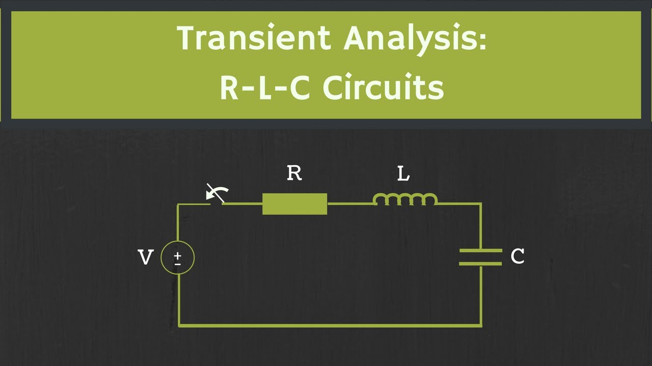 Transient Analysis Of The Rlc Circuit With Examples Youtube Understand Dc Operation