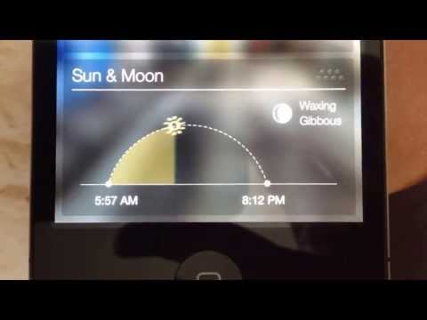Sun & Moon; Yahoo Weather Widget