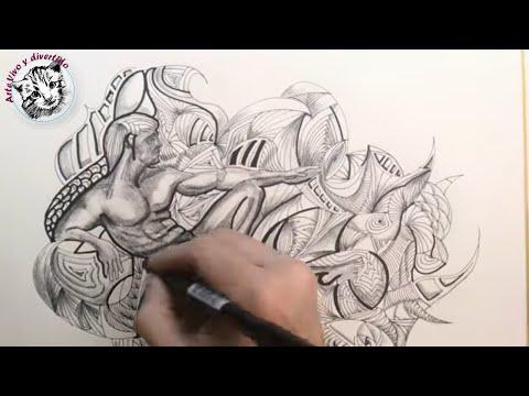 Dibujando Zentangle | Realismo Vs Zentangle en un solo Dibujo