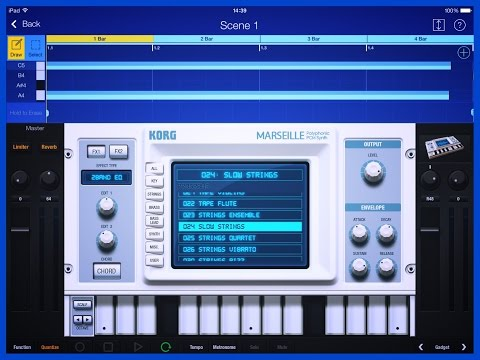 Korg Gadget, Lets Compose With Marseille, Demo for iPad