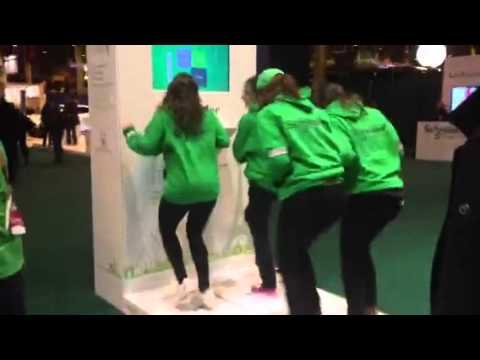 Paris marathon and running expo - Pavegen tiles to generate energy from footsteps