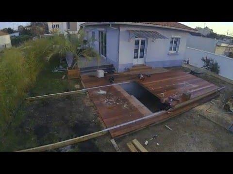 realisation d une terrasse avec terrasse amovible sur piscine par cube in life