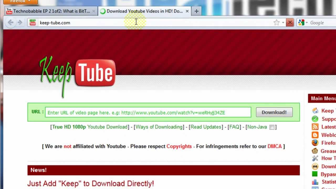 Howto Download Videos & Music From Youtube, Facebook & Other Sites