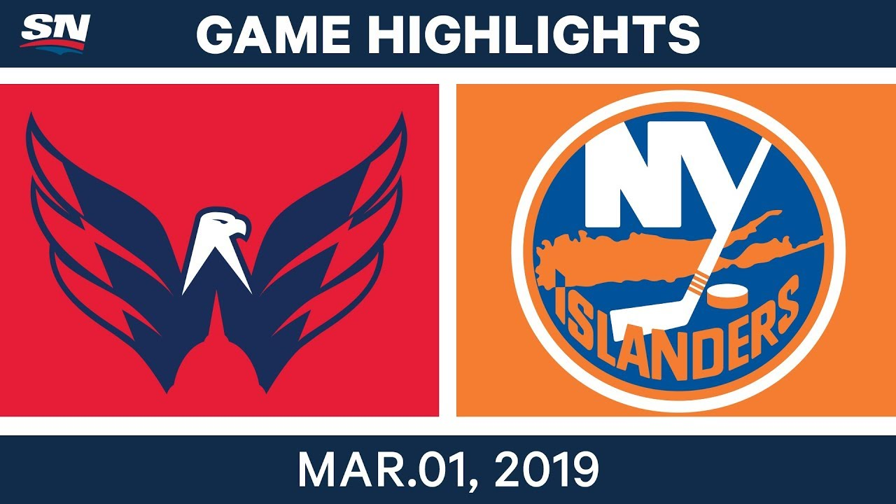 NHL Highlights | Capitals vs  Islanders - Mar 01, 2019