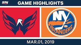 NHL Highlights   Capitals vs. Islanders - Mar 01, 2019