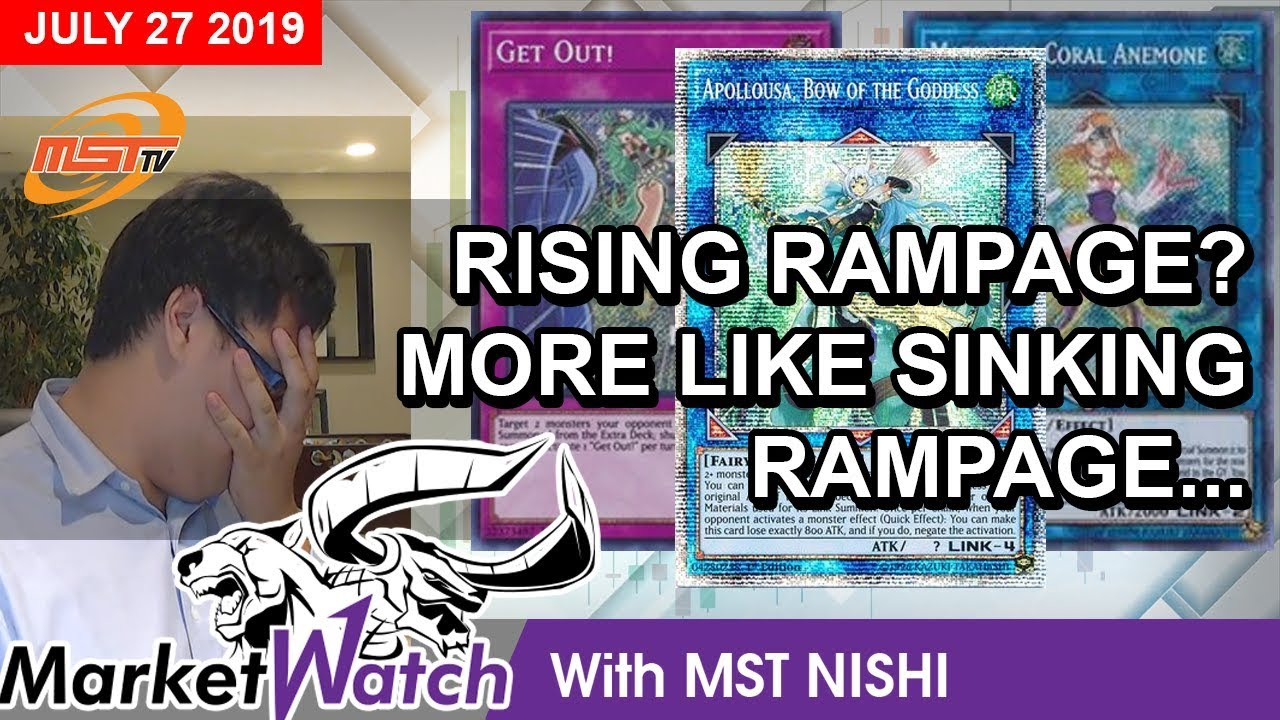 Rising Rampage, Sinking Prices - Yugioh Market Watch & Price Projections  July 27, 2019
