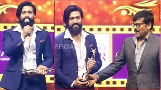 KGF Yash Dynamic Speech After Winning Best Actor Award From Megastar Chiranjeevi