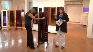 Gold & Silver Safekeeper Jewelry Cabinet w/ Wall Mount by Lori Greiner with Jill Bauer