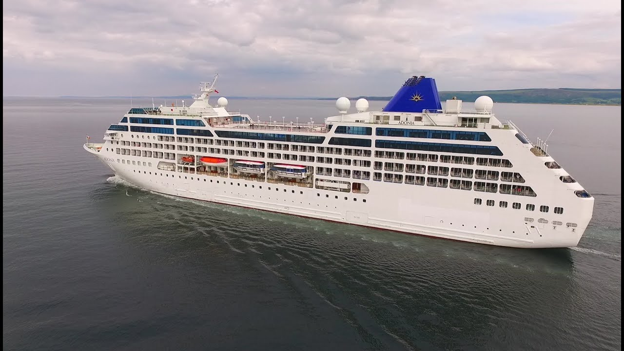 DJI Phantom Advanced PO Adonia Cruise Ship On Lough Foyle - Adonia cruise ship
