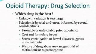 Dr. Russell Portenoy - OPIOID THERAPY