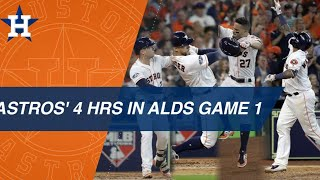Astros club 4 homers in ALDS Game 1 win